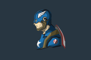 Captain America 4k Minimalism