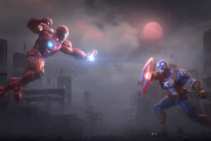 Captain America And Iron Man 4k New Wallpaper