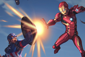 Captain America And Ironman Wallpaper