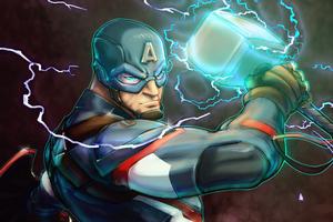 Captain America Art Hammer