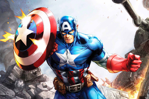 Captain America Artnew Wallpaper