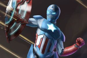 Captain America As Iron Man Suit