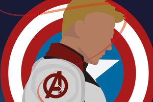 Captain America Avenger Minimal Wallpaper