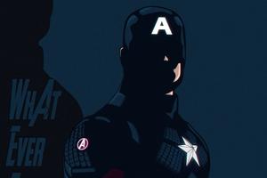 Captain America Avengers Edgame Minimal 5k Wallpaper
