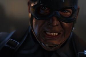 Captain America Avengers EndGame 2019 Art