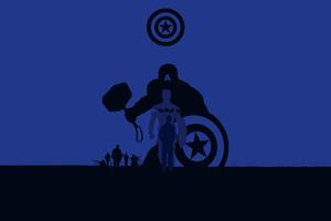 Captain America Avengers Endgame 4k Minimalism Wallpaper