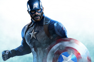 Captain America Beard Artwork Wallpaper
