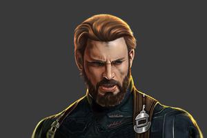 Captain America Beard Avengers Endgame
