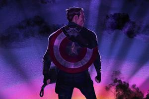 Captain America Broken Shield Thor Hammer