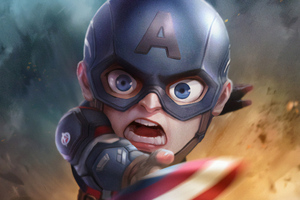Captain America Chibi Wallpaper