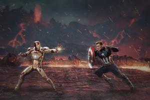 Captain America Civil War X Tekken 4k