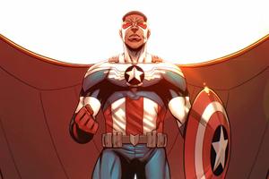 Captain America Cover Fanart 4k Wallpaper