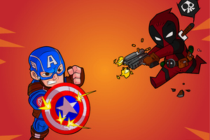 Captain America Deadpool 4k Wallpaper