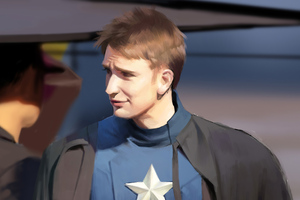 Captain America Digital Art 4k