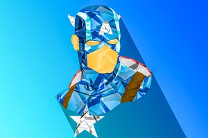 Captain America Digital Art Wallpaper