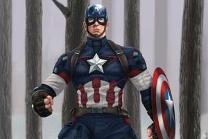 Captain America Digital Artwork Wallpaper