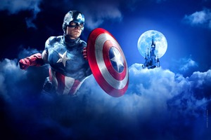 Captain America Disneyland Paris Marvel Summer Of Superheroes Wallpaper