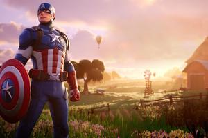 Captain America Fortnite 4k Wallpaper