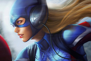 Captain America Girl 4k
