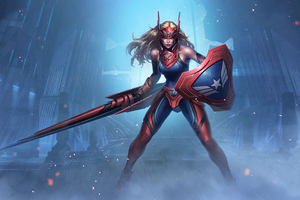 Captain America Girl Marvel Contest Of Champions Wallpaper