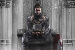 Captain America Hammer 4k Wallpaper