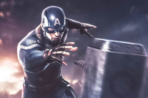 Captain America Hammer Artwork Wallpaper