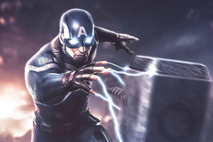 Captain America Hammer Power Wallpaper