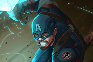 Captain America Hammer4k Wallpaper