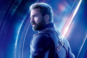 Captain America In Avengers Infinity War 8k Poster Wallpaper