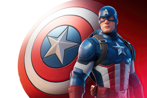 Captain America In Fortnite Wallpaper