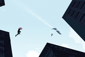 Captain America Jump Wallpaper
