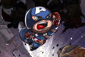 Captain America Little Art Wallpaper