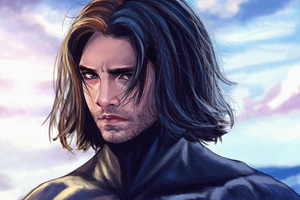 Captain America Long Hair Artwork