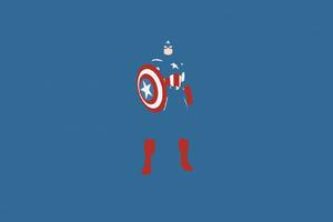 Captain America Marvel Comics Minimalism