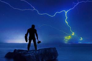 Captain America Matte Lightning 4k