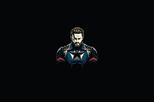 Captain America Minimal 4k Wallpaper