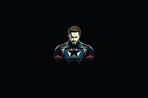 Captain America Minimal 4k
