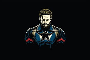 Captain America Minimal Design Wallpaper