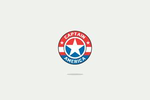 Captain America Minimal Logo 4k Wallpaper