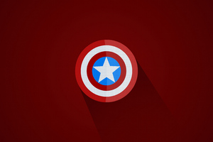 Captain America Minimal Logo 5k Wallpaper