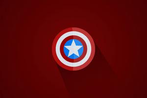 Captain America Minimal Logo 5k
