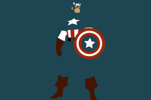 Captain America Minimalism Wallpaper