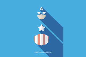 Captain America Minimalist 4k