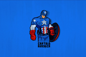 Captain America Minimals Wallpaper