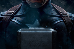 Captain America Mjolnir 4k 2020 Wallpaper