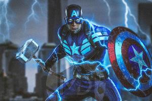 Captain America Mjolnir Avengers Endgame 4k 2019 Wallpaper