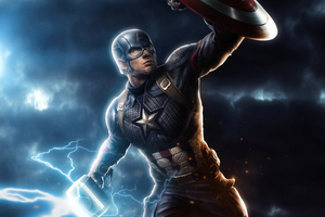 Captain America Mjolnir Avengers Endgame 4k Art Wallpaper