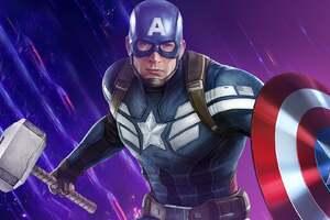 Captain America Mjolnir Hd