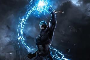 Captain America Mjolnir New Art 4k Wallpaper