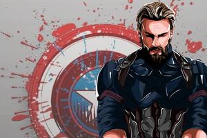 Captain America New Art 4k